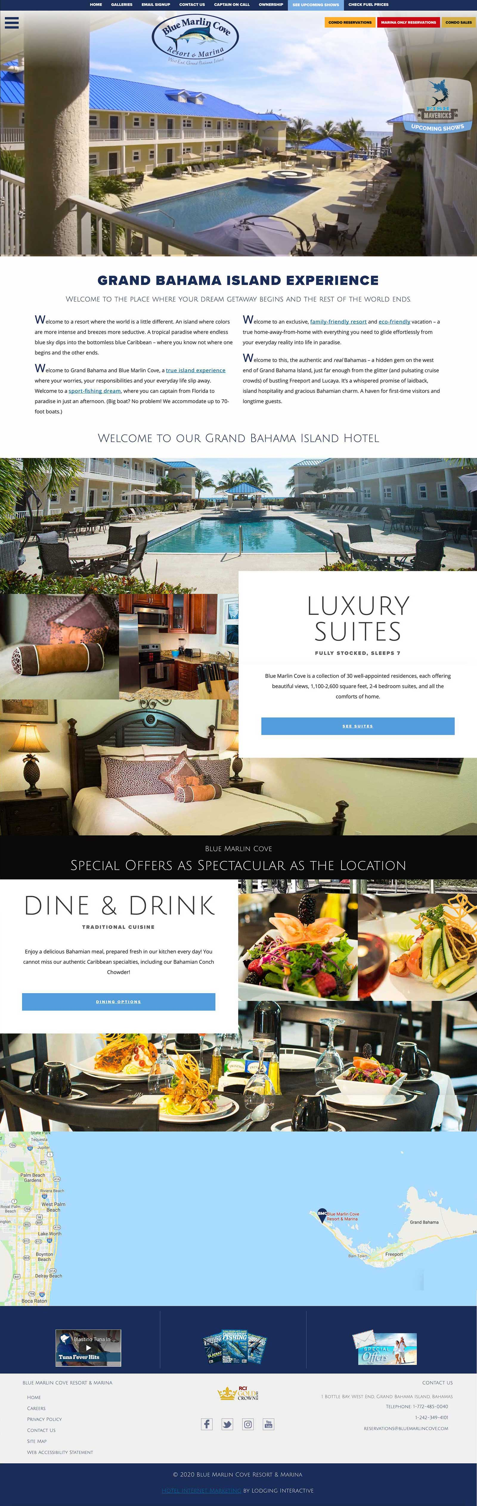 Blue Marlin Cove homepage