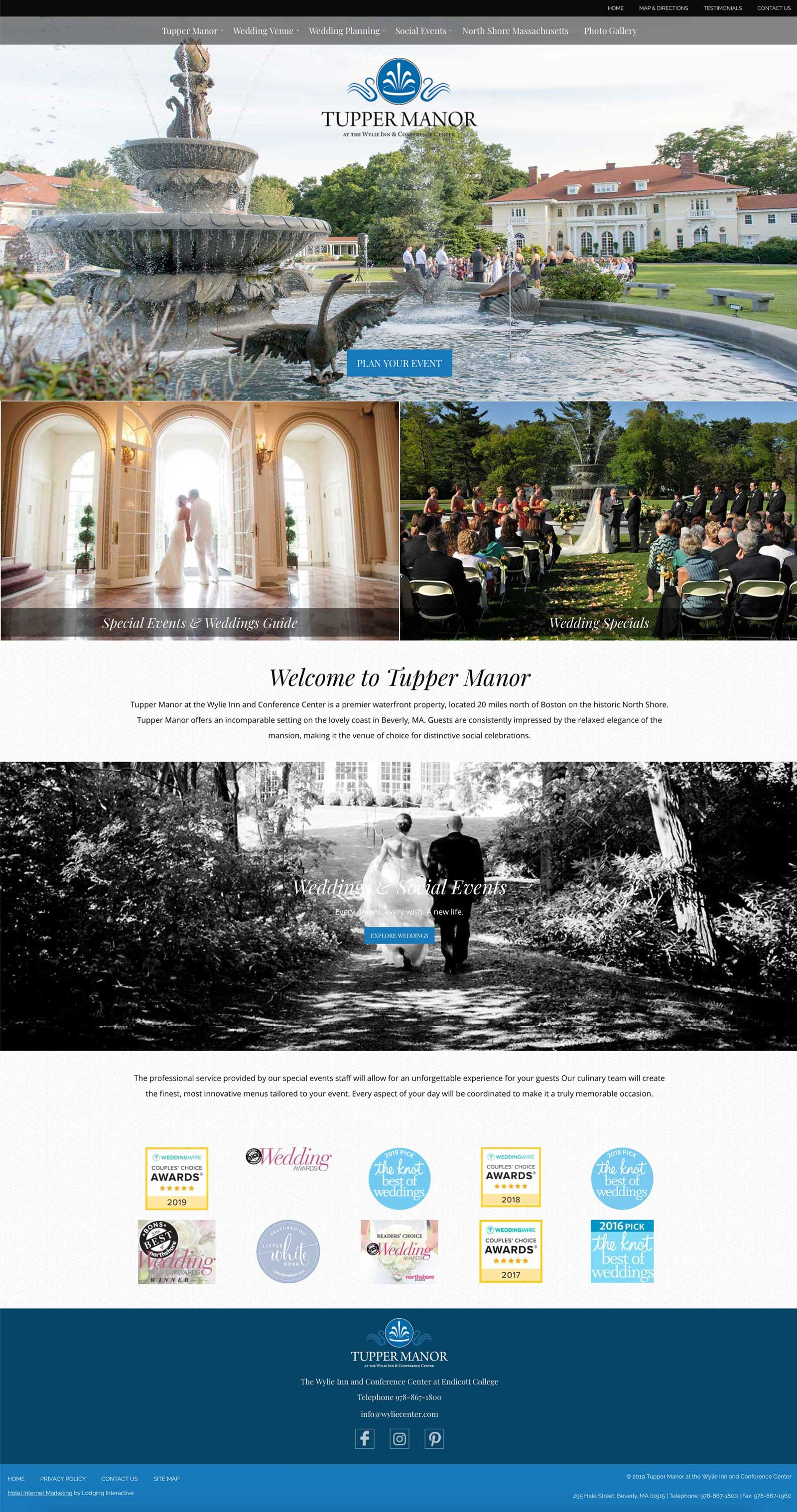 Tupper Manor homepage